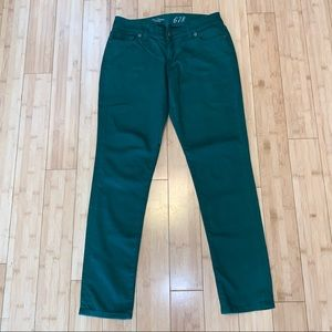 The Limited 678 green denim jeans size 4